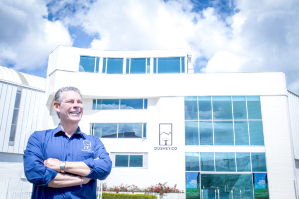 Leon Vinkle, Chief Supply Chain Officer (CSCO) outside Dushey's Facilities in Colombia